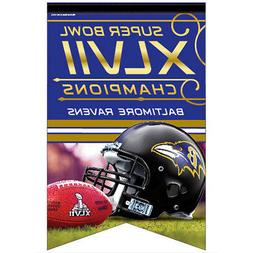 Baltimore Ravens Super Bowl 47 Logo Banner and Wall Hanging