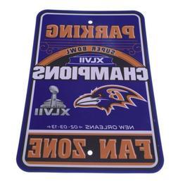 Baltimore Ravens Super Bowl Champions Sign - Man Cave