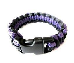 Baltimore Ravens Team Colors Paracord Bracelet - Purple and