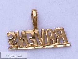 BALTIMORE RAVENS Team Name Pendant 24k Gold Plated Charm Tea