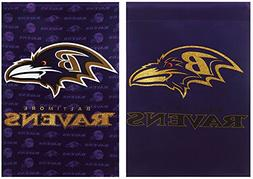 Baltimore Ravens Two Sided Glitter Embellished Garden Flag