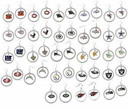 dangle hoop earrings NFL PICK YOUR TEAM