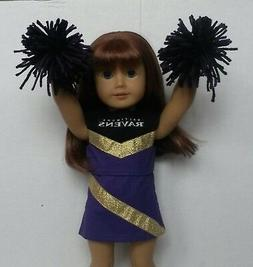"""Doll Clothes fits 18"""" American Girl Dolls Baltimore Ravens C"""