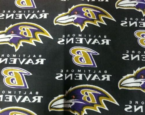 1 2 yard nfl football cotton fabric