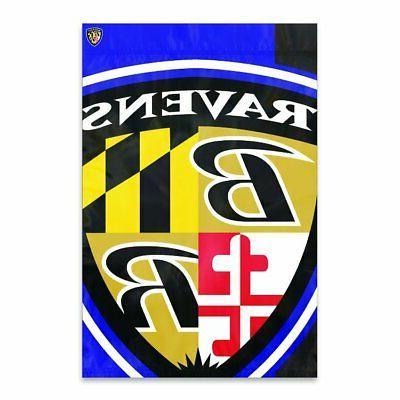 Baltimore Ravens BOLD LOGO 2x3 Banner Outdoor House Flag Foo