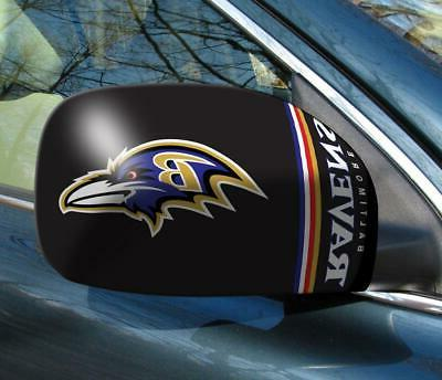 baltimore ravens mirror cover 2 pack small