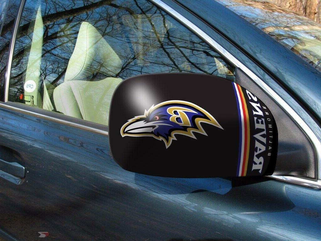 baltimore ravens nfl car truck mirror covers