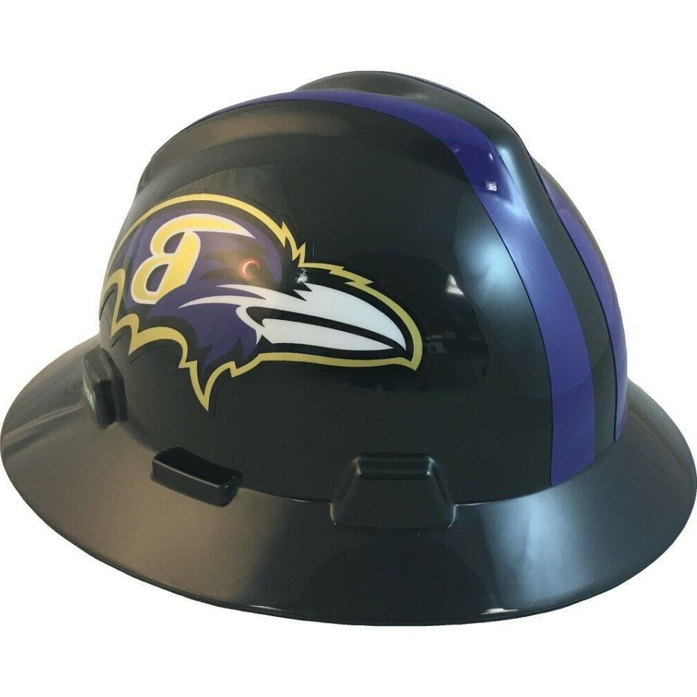 baltimore ravens nfl full brim hard hat