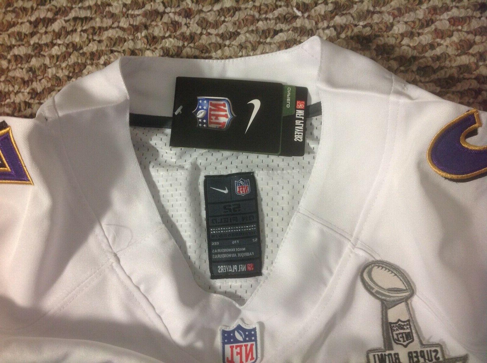 Nike Baltimore Ravens Lewis Super Bowl NFL Men's 52 White