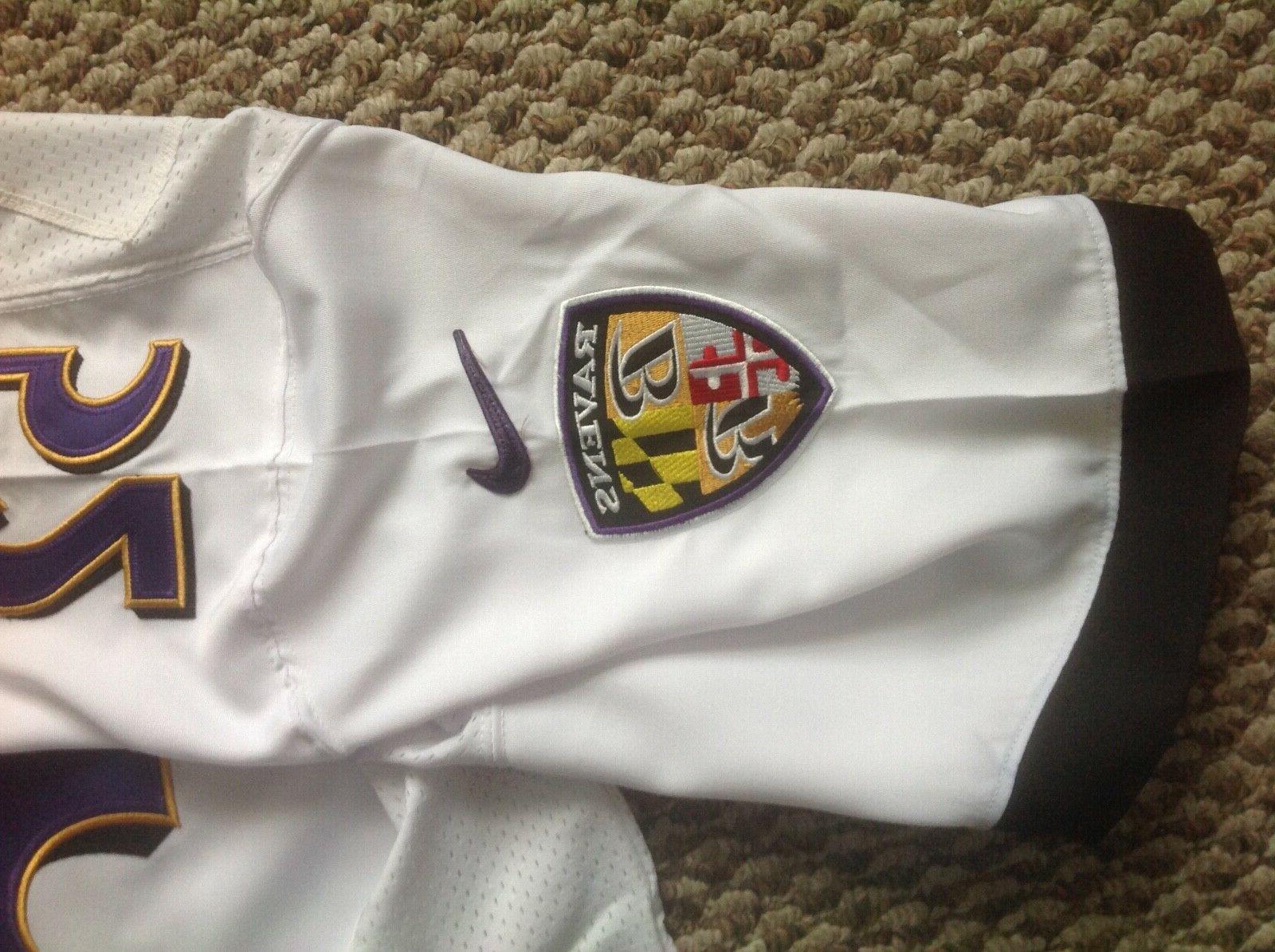 Nike Lewis Super Bowl XLVII NFL Size White Jersey