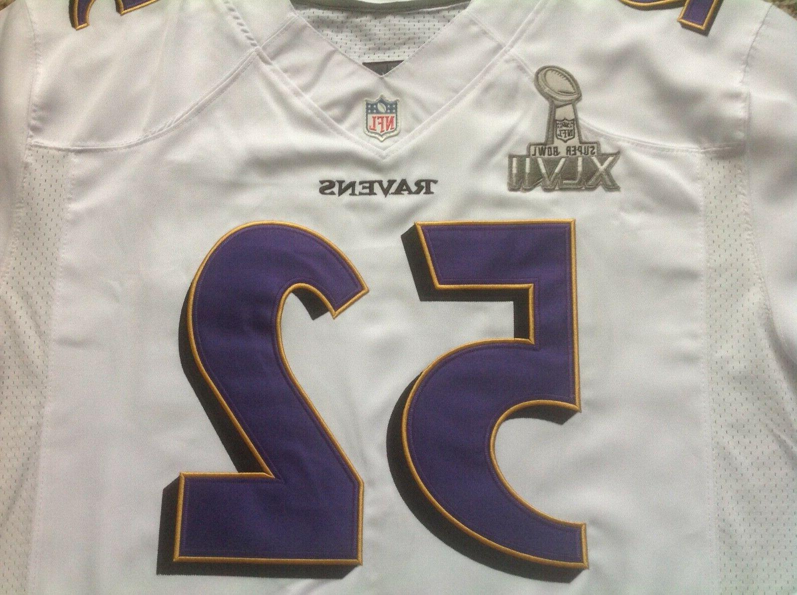 Nike Ray Lewis Super Bowl NFL White Jersey