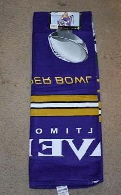 BALTIMORE CHAMPIONS NFL FOOTBALL BATH BEACH TOWEL