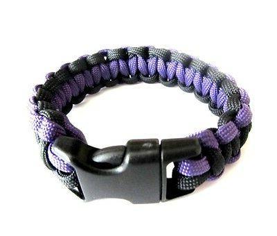 baltimore ravens team colors paracord bracelet purple