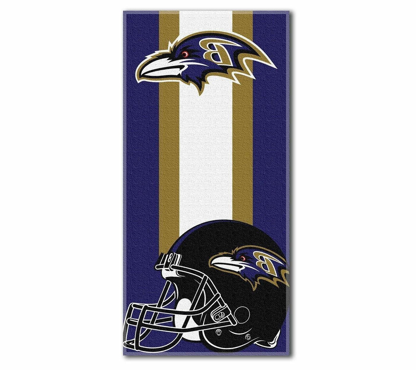 new football team baltimore ravens beach towel