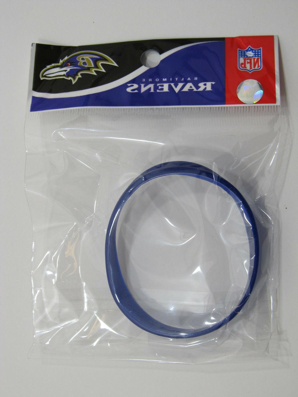 nfl baltimore ravens bracelet 8 purple 100