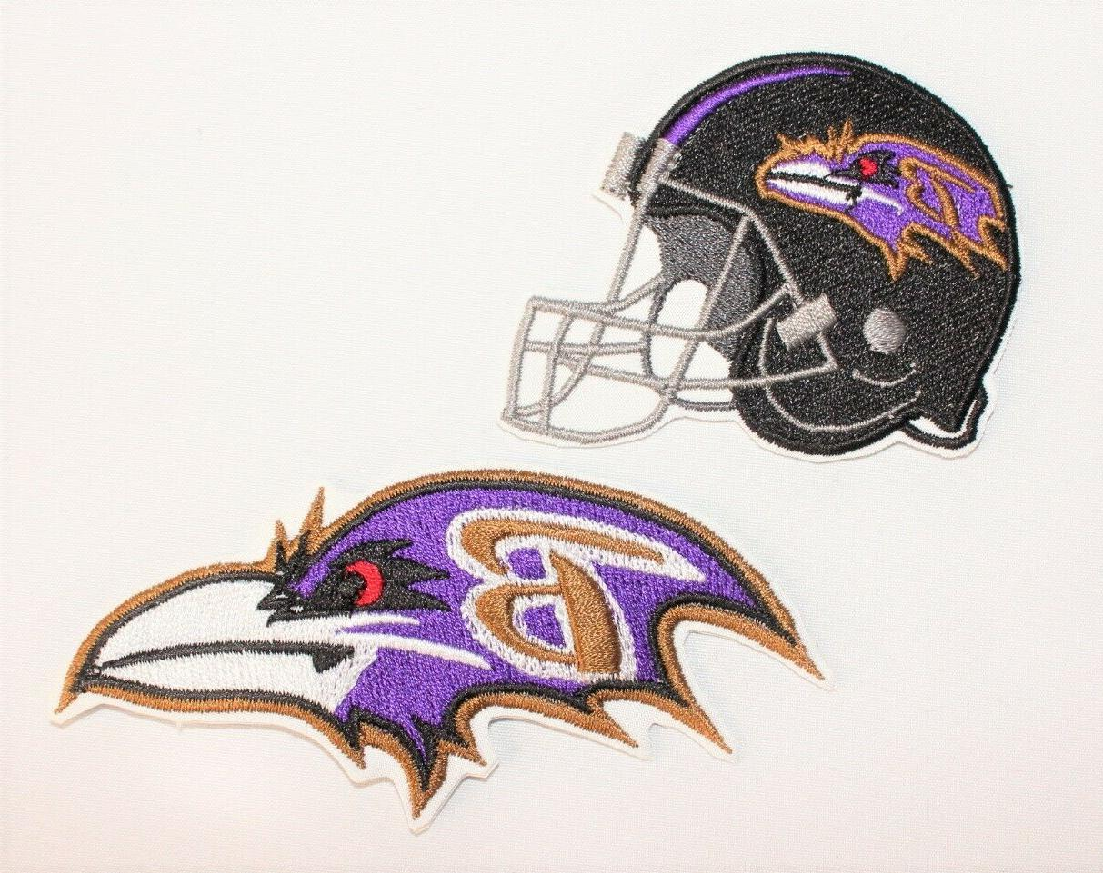 nfl baltimore ravens embroidered iron on patch