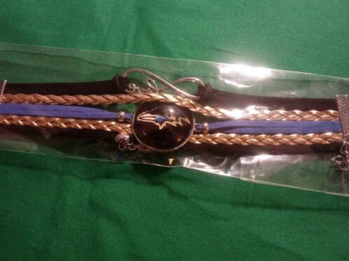 nfl baltimore ravens team logo bracelet