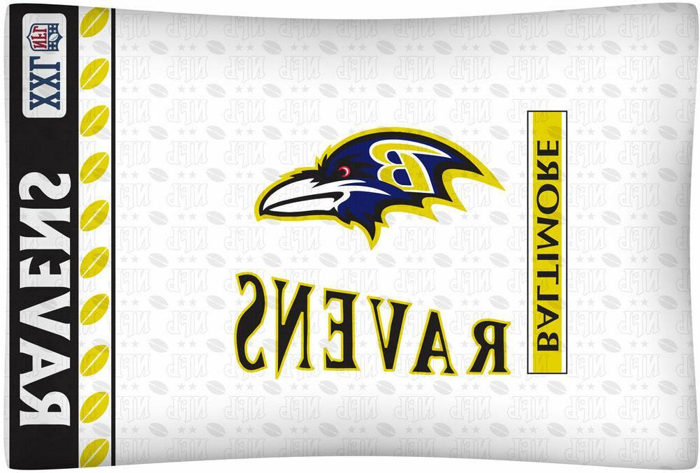 ravens logo microfiber pillow case standard size
