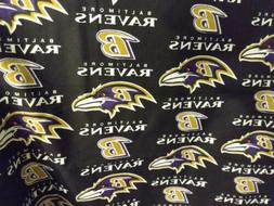 "Baltimore Ravens Logo, 1/4 yard, 9"" x 58"" NFL Football Cotto"