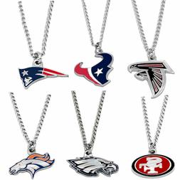 logo necklace charm pendant NFL PICK YOUR TEAM