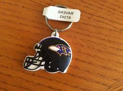 LOT OF 12 NFL  BALTIMORE RAVENS RUBBER KEY CHAINS