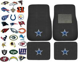 New 4pcs NFL Pick Your Team Car Truck Front Rear Back Carpet