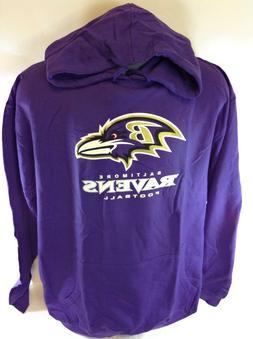 NEW Mens NFL Majestic Baltimore Ravens Logo Fleece Football