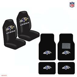 New NFL Baltimore Ravens Car Truck Seat Covers Floor Mats St