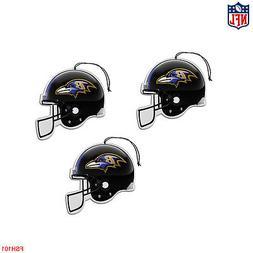 New NFL Baltimore Ravens Paper Hanging Air Freshener 3 pack