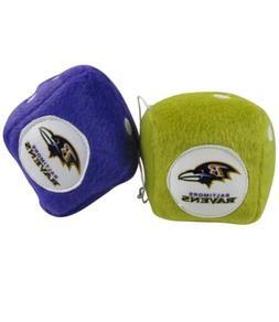 NFL Baltimore Ravems Titans Plush Fuzzy Dice Auto Accessorie
