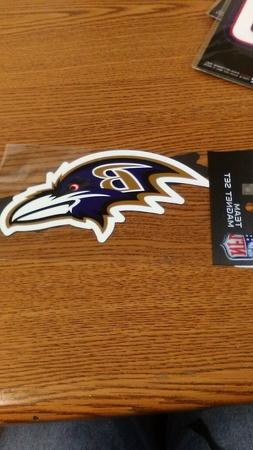 NFL BALTIMORE RAVENS 2 PACK OF MAGNETS NEW IN PACKAGE CAR MA