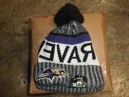 NFL Baltimore Ravens 2018 Men's New Era Sideline Sport Knit