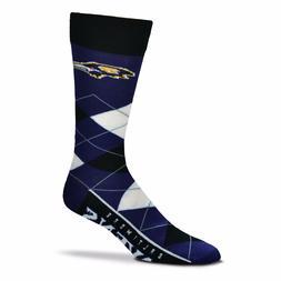 NFL Baltimore Ravens Argyle Unisex Crew Cut Socks - One Size