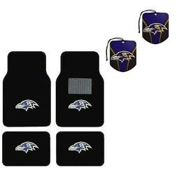 NFL Baltimore Ravens Car Truck Carpet Floor Mats & Hanging A