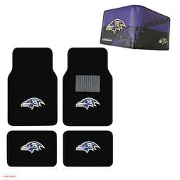 NFL Baltimore Ravens Car Truck Carpet Floor Mats & Synthetic