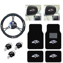 NFL Baltimore Ravens Car Truck Floor Mats Steering Wheel Cov