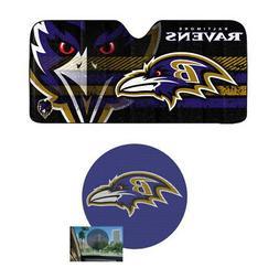 NFL Baltimore Ravens Car Truck Windshield Folding SunShade &