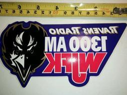 NFL Baltimore Ravens classic bumper sticker. Ravens Radio 13
