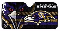NFL Baltimore Ravens Deluxe Universal Fit Auto Windshield Su