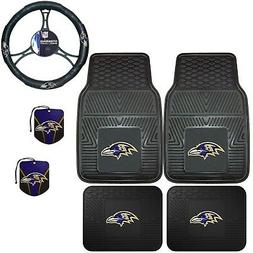 NFL Baltimore Ravens Floor Mats Steering Wheel Cover & Air F