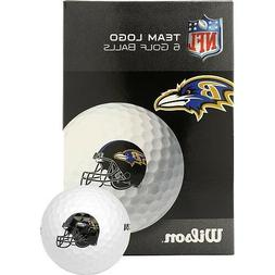 NFL Baltimore Ravens Golf Ball, Pack of 6