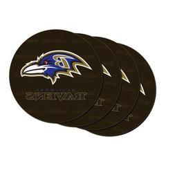NFL Baltimore Ravens Neoprene Car Coasters, 4-Pack