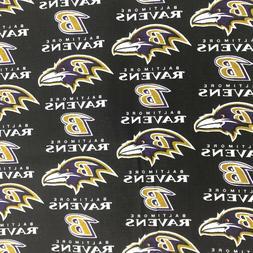 NFL Baltimore Ravens Football 1/2 yard  100% Cotton Fabric N