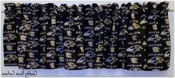 NFL Football Baltimore Ravens Handmade Window Curtain Valanc