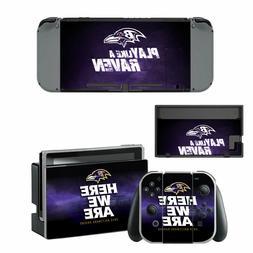 NINTENDO SWITCH - Baltimore Ravens - Vinyl Skin Sticker + 2