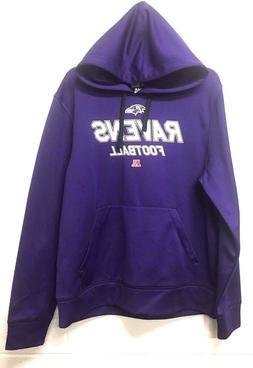 NWT $55 NFL Men's Hoodie Sweater Baltimore Ravens Purple *M