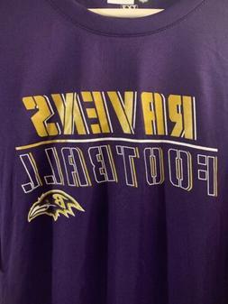 NWT Large Baltimore Ravens Dri Fit  Mens Shirt Purple NFL Te