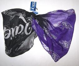 Nwt New Baltimore Ravens Logo NFL Football Infinity Scarf Lo