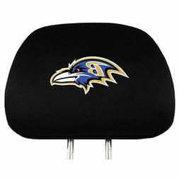 Pair of Baltimore Ravens Head Rest Covers - NEW! Truck Car A