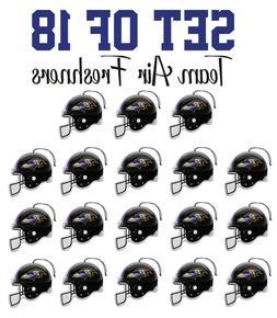 Set of 18 Baltimore Ravens Team Helmet Car Vehicle Room Cave